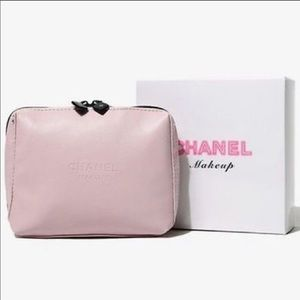 NWT NIB pink CHANEL makeup case